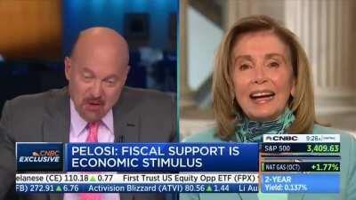 CNBC Host Jim Cramer Calls Pelosi 'Crazy Nancy' to Her Face, Scrambles to Backtrack