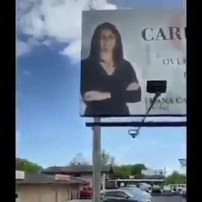 Haunted billboard