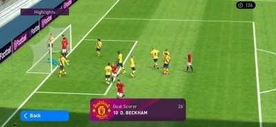 When Beckham takes a corner kick like a free kick in an online match.