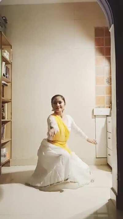 Kathak Dance in my room.