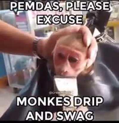 Monkey drip 😳😳😳