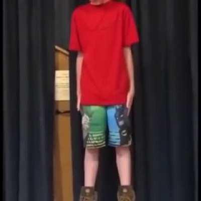 This kid singing an FNaF song