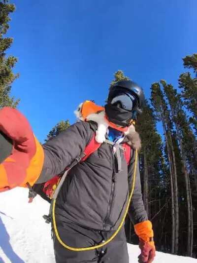 He's skiing with Gary