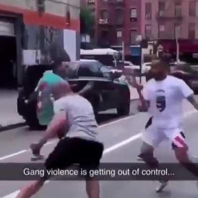 Smh we need to stop this gang violence