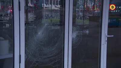 Riots against Curfew today in the Netherlands