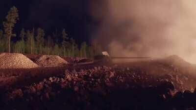 Oil well fire in Siberia put down by artillery fire, June 8 2020