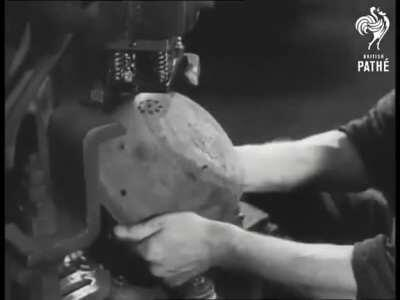 Making Pots From German Army Helmets (1946)