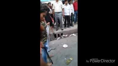 Group of Desi Girls fighting in New Delhi India.