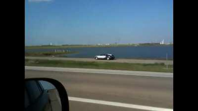 Guy intentionally drives a Bugatti into a lake so he can try and collect insurance proceeds twice the value of the car.