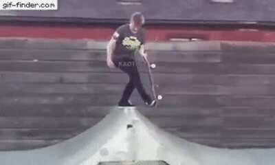 WCGW trying to stand on a skateboard