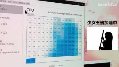 If this is not the correct way to use a 64-Core Processor, I don't know what is.