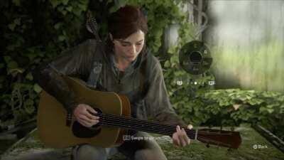 Playing The Last of Us main theme on the in-game guitar (Learned from GrindcoreMan on YouTube)