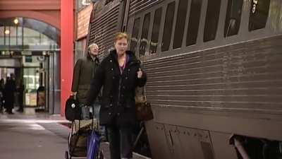 Swedish guy misses train