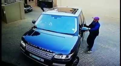 Trying to hijack an alert and armed driver.