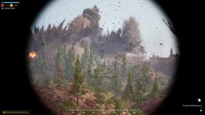 Artillery Strike Obliterates Enemy HAB