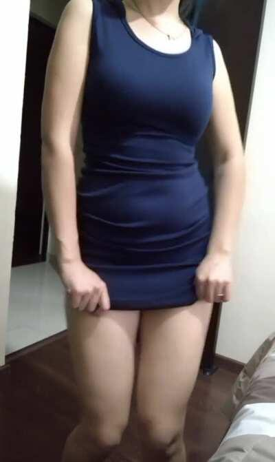 Blue micro dress