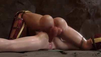Futanari Wonder woman fills her ass, and doesn't stop. their faces 😌