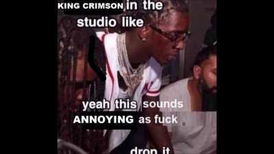 king crimson in da studio