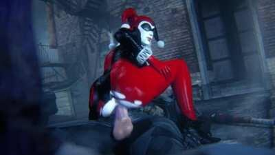 Harley riding Batman (leeteRR) [Batman, DC]