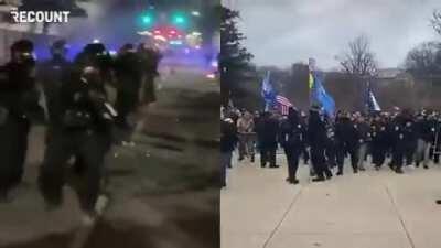 BLM protest vs Trump protest