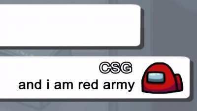 A comrade defending his color