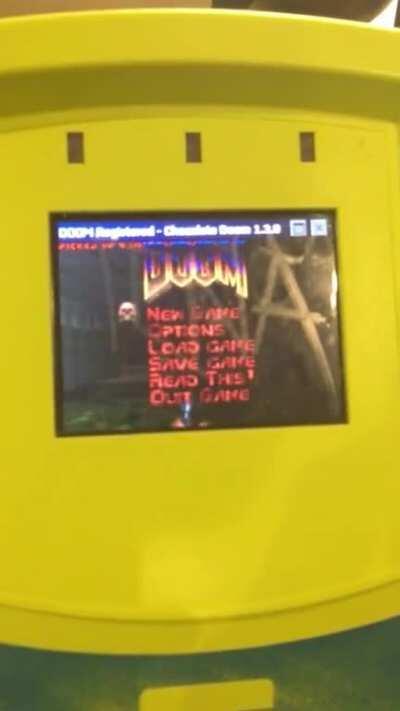 Got Doom working on a ticket validator (myki)