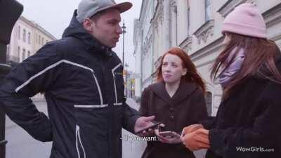 Guy bumps into girls taking Instagram pics, gets luckiest outcome