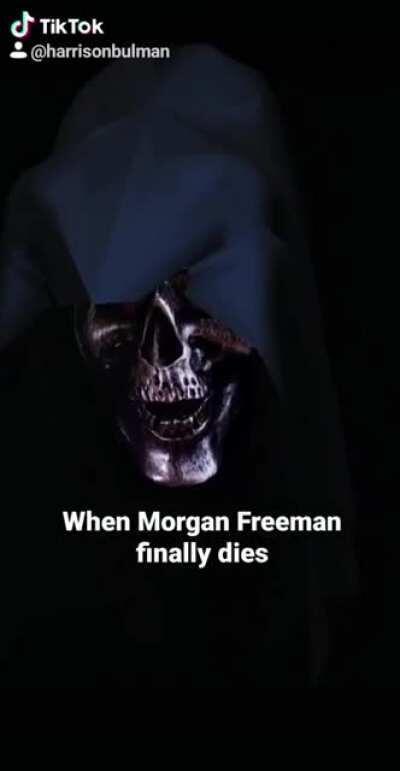 The Grim Reaper comes to collect Morgan Freeman