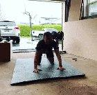 No wonder he could only do one pushup