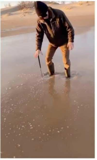 Litterally playing in quicksand