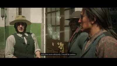 About to start this mission in Saint Denis when a policeman sees me, with a 1500 $ Wanted on me