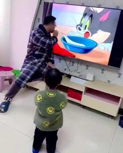 The kids reaction is pricless...