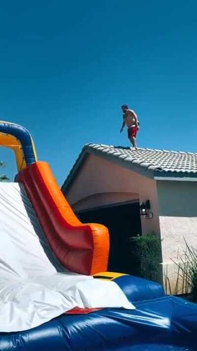HMF while I try out this water slide