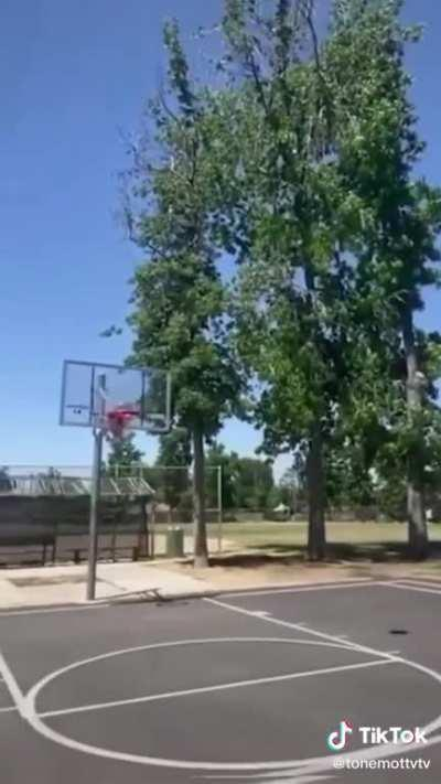 Cops bests man viciously ( In Basketball ) !!