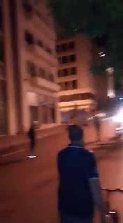 Clashes in downtown happening now