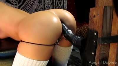 Abigail Dupree Takes Horse Cock Up Her Ass!