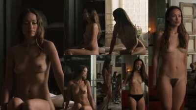 Nude Video Collage of Olivia Wilde in 'Vinyl' S01E06 (2016)