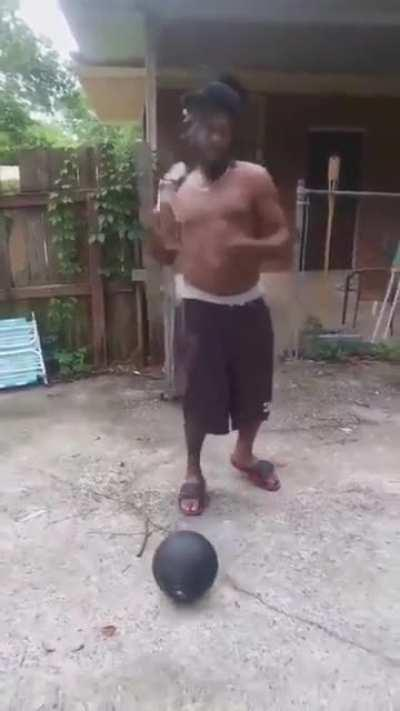 The beer/basketball trick