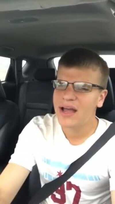 Just singing in the car