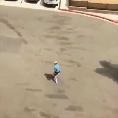 WCGW throwing a coke bottle at the 4th floor.