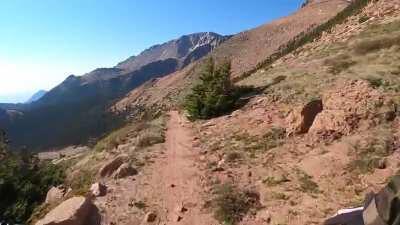Riding down Pikes Peak. Colorado Springs CO