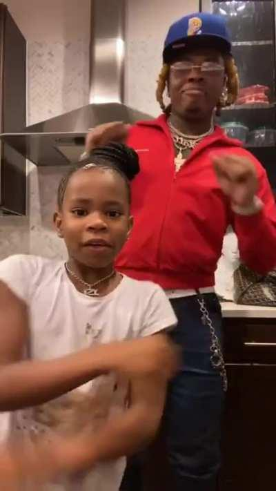 Wholesome Gunna dancing with Young Thug's daughter