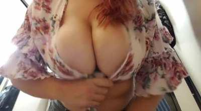 Do you like busty redheads in revealing tops? [OC]