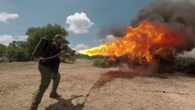 Difference between Elon Musk's Not A Flamethrower and a flamethrower