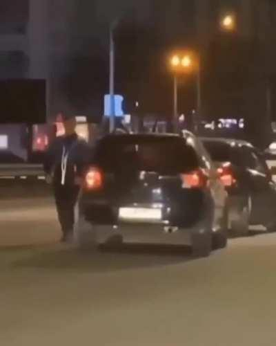 WCGW messing with a car on the road