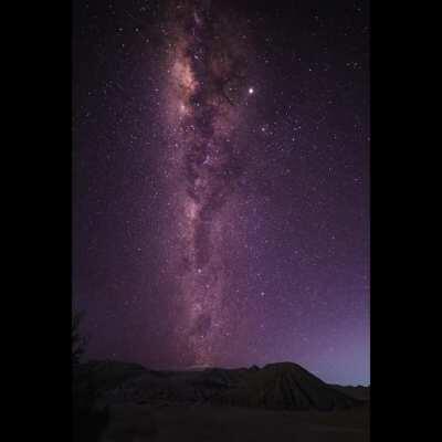 Beautiful Vertical Milkyway over Mount Bromo