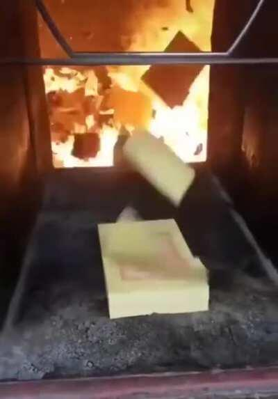 A sacrifice to the fire god