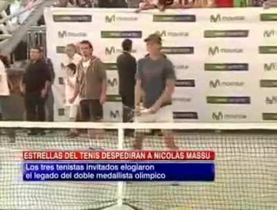 Throwback to another funny Rafa moment: this time translating Djokovic's English to...English