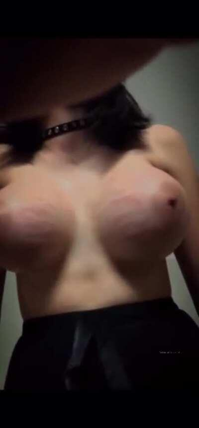 YOU ASKED FOR IT... WELL HERE IT IS. BIG TIT SLUT SLOW-MO