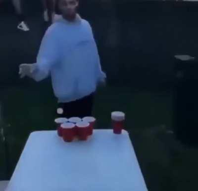 Beer pong: the next level